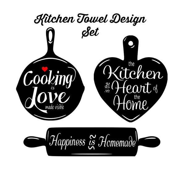 Kitchen Towel Svg Set Home Decor Svg 3 Svg Set Kitchen Decor