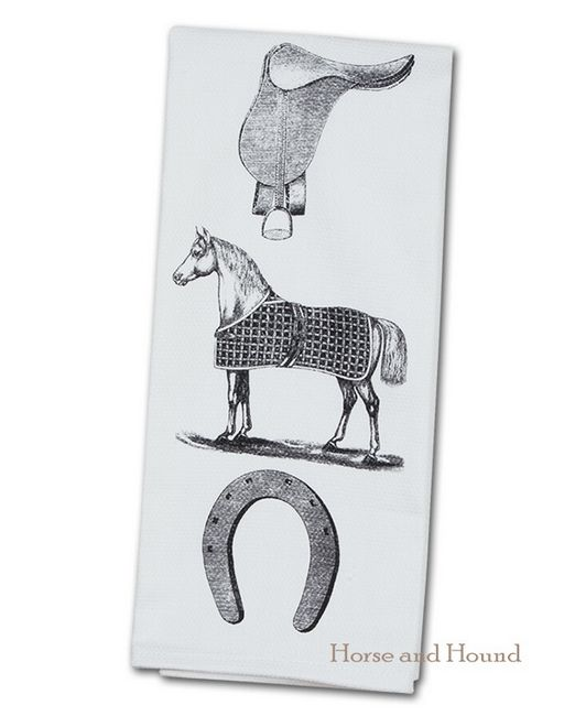 Horse Equipment Kitchen Towel Large Towels Perfect For The Equestrian Kitchen Or In The Bar