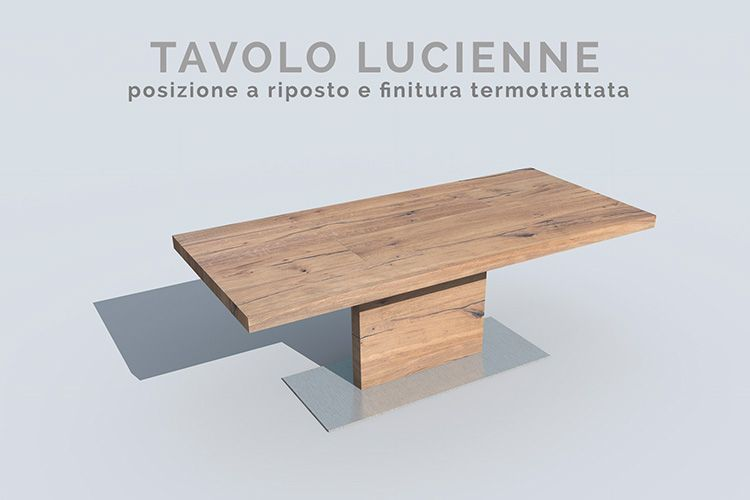 Tavolo Allungabile Gamba Centrale.Il Tavolo Minimo Per Antonomasia Con Gamba Centrale E Con Piano A