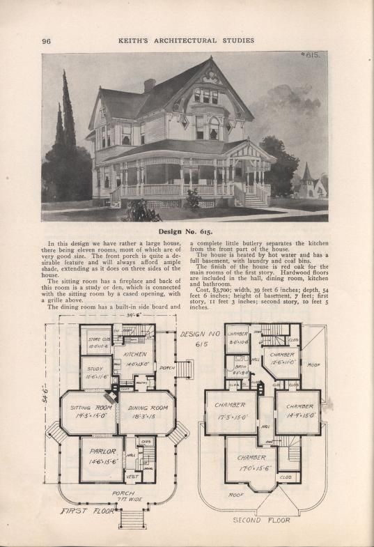 Keith\'s architectural studies, no.8   1800\'s-1940\'s House plans ...