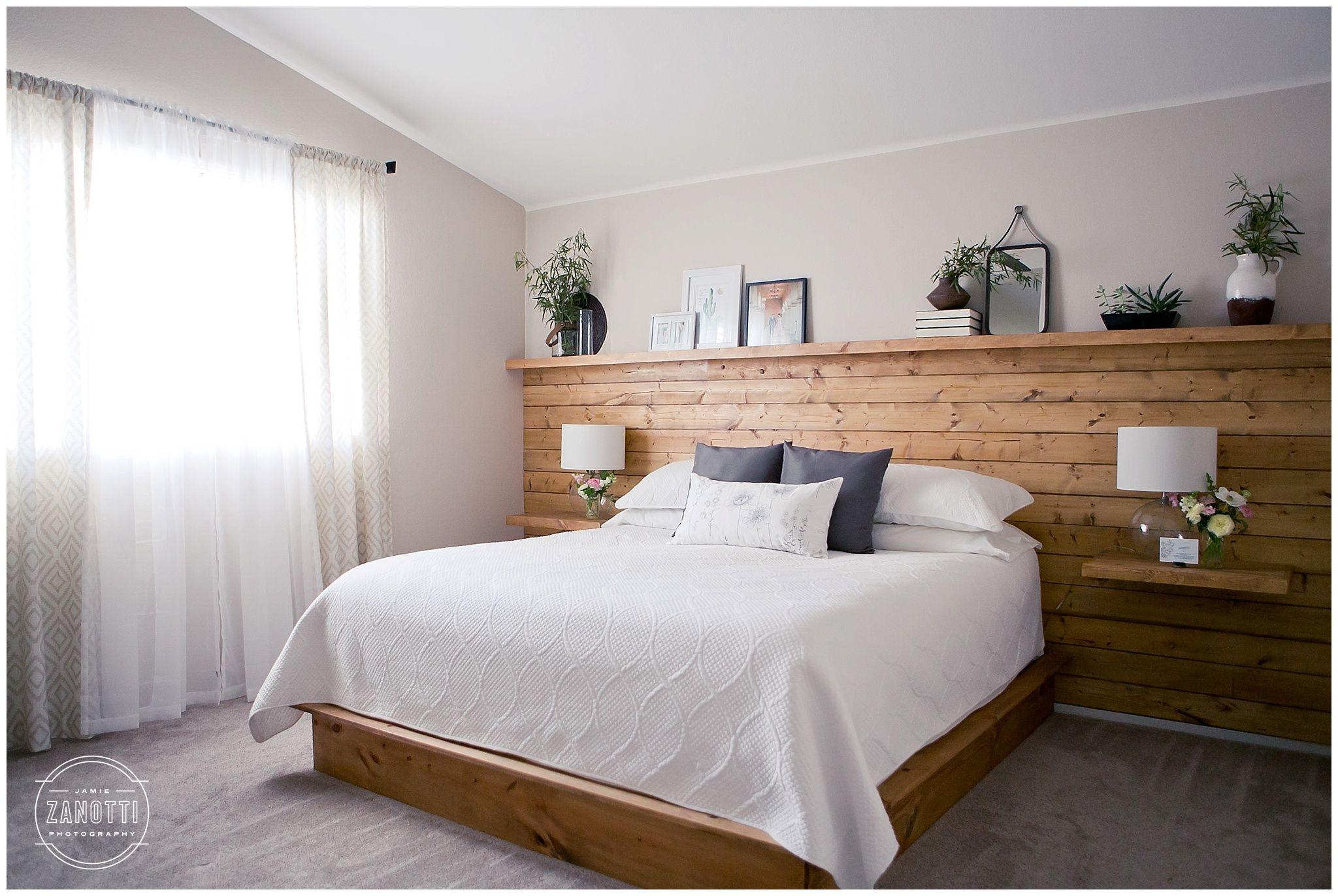 Diy Natural Wood Shiplap Tongue And Groove Headboard Wall With