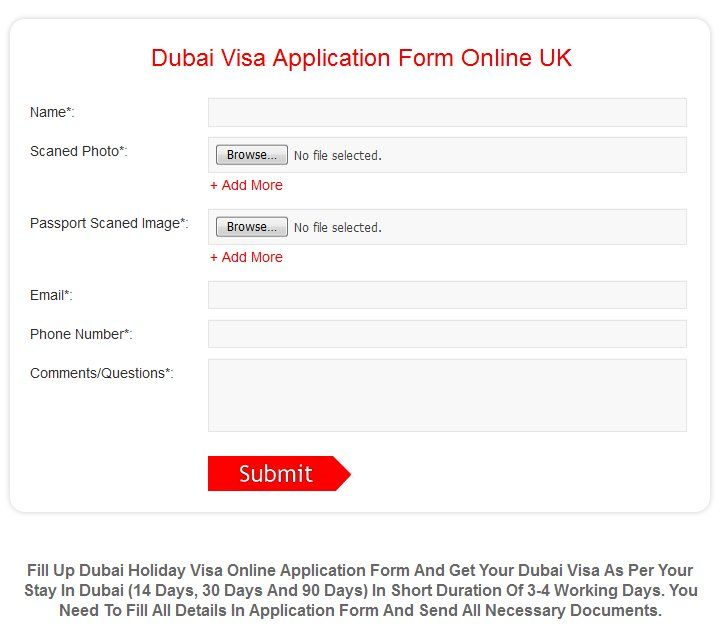 Fill Up Dubai Holiday Visa Online Application Form And Get Your