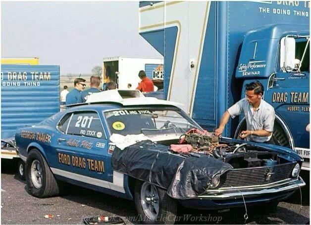 Ford Drag Race Team Nhra Old School Rat Rod Muscle Car Christmas