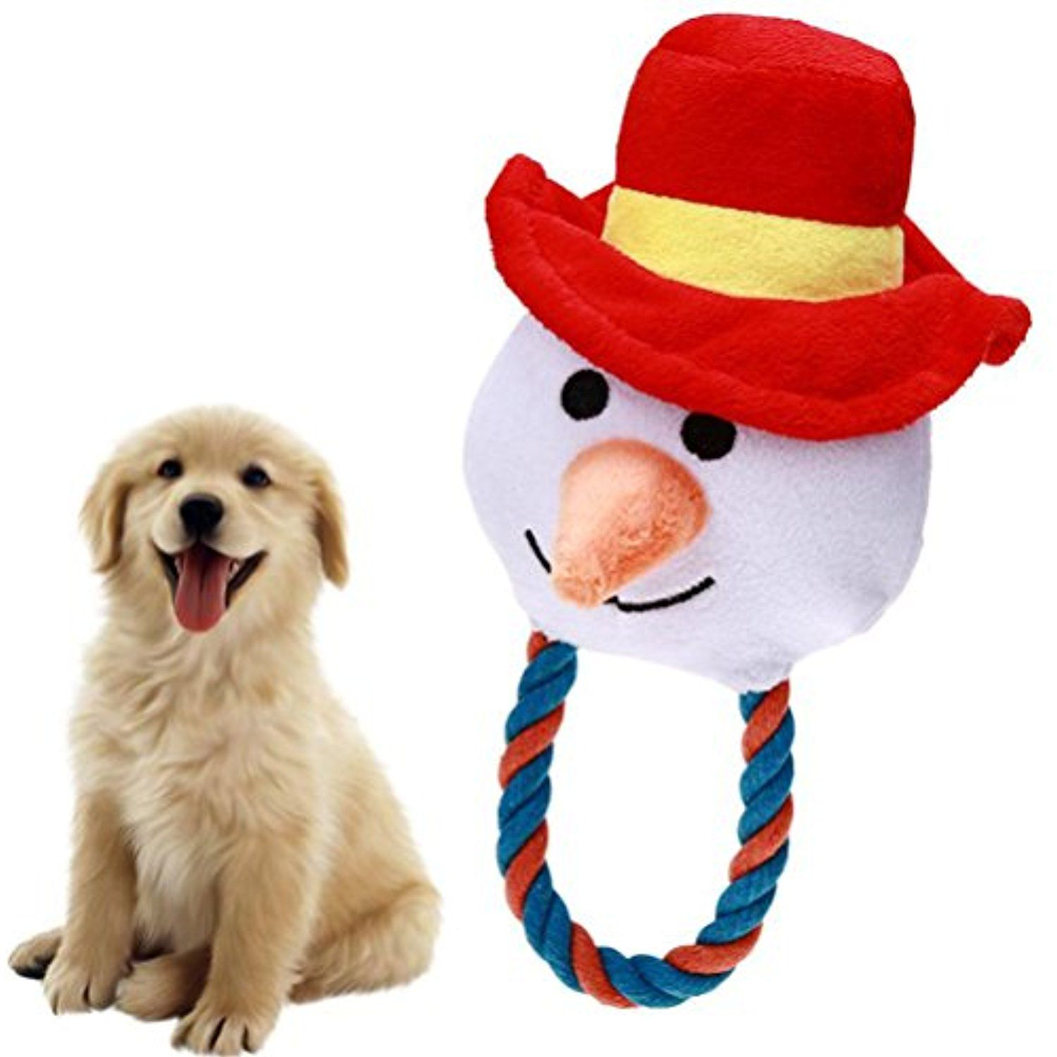 Ueetek Christmas Pet Plush Toys Dog Chew Toys Puppy Cats Cute