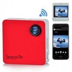 Camera/Camcorder:Full HD 1080p WiFi Pocket Cam, 2-in-1 , Control via Smartphone (Red)