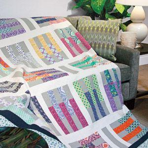 Pick-Up Sticks: Jelly Roll Precut Fabric Strip Lap Quilt Pattern ... : fast quilt - Adamdwight.com