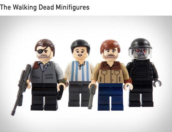 Nuovo LEGO Boy Bambina Punk Rock Band Minifig Torso Busto Walking Dead Zombie