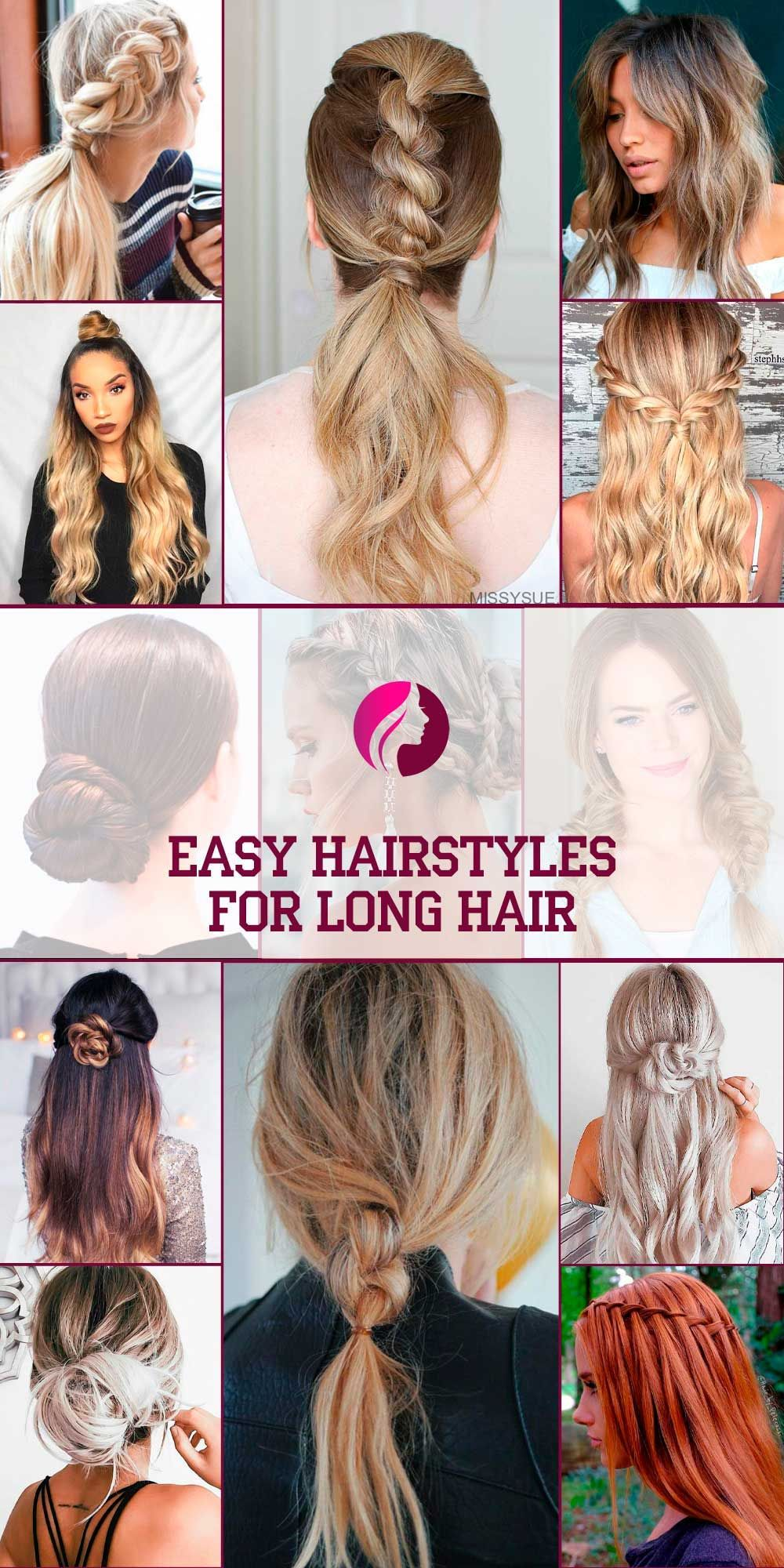 28 Easy Hairstyles For Long Hair Make New Look Easy Hairstyles For Long Hair Easy Hairstyles Long Hair Styles