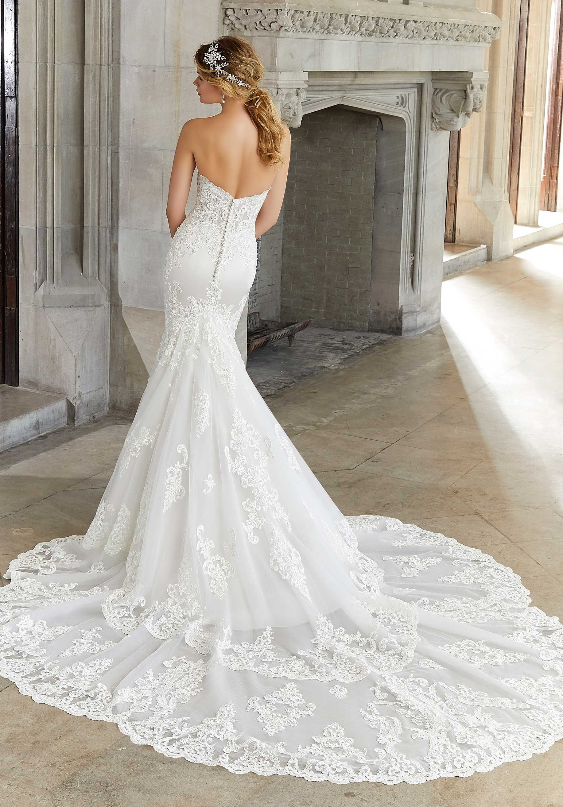 Lace And Satin Mermaid Wedding Gown Wedding Dresses Designer Wedding Dresses Bridal Gowns [ 2630 x 1834 Pixel ]