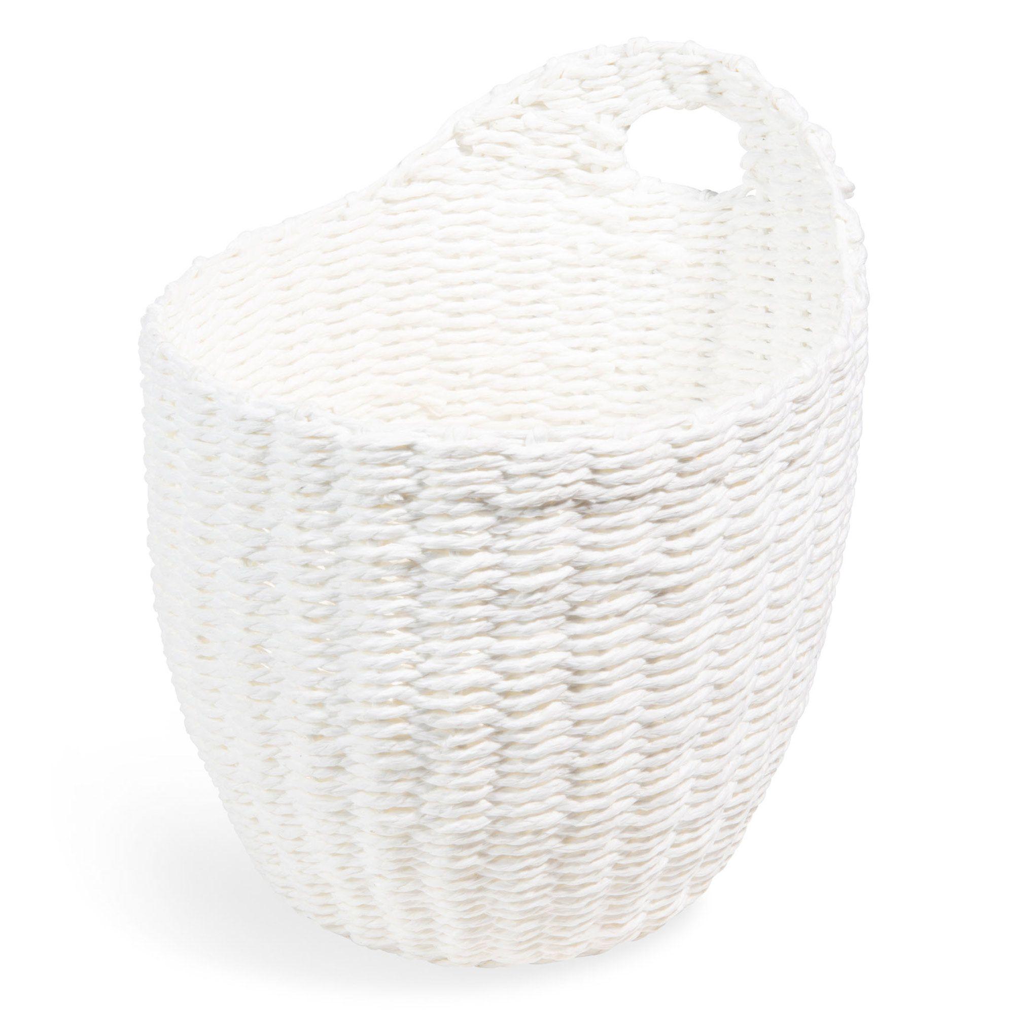 Panier A Suspendre En Vannerie Blanc H 19 Cm Mer Panier Suspendu Maisonsdumonde Maison Du Monde