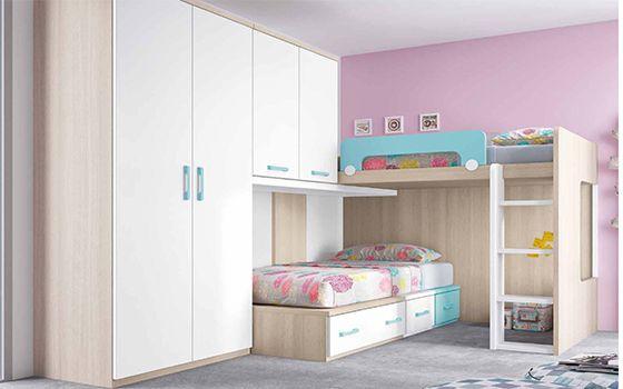 Dormitorio Juvenil Litera y Tren - mueblaria.com