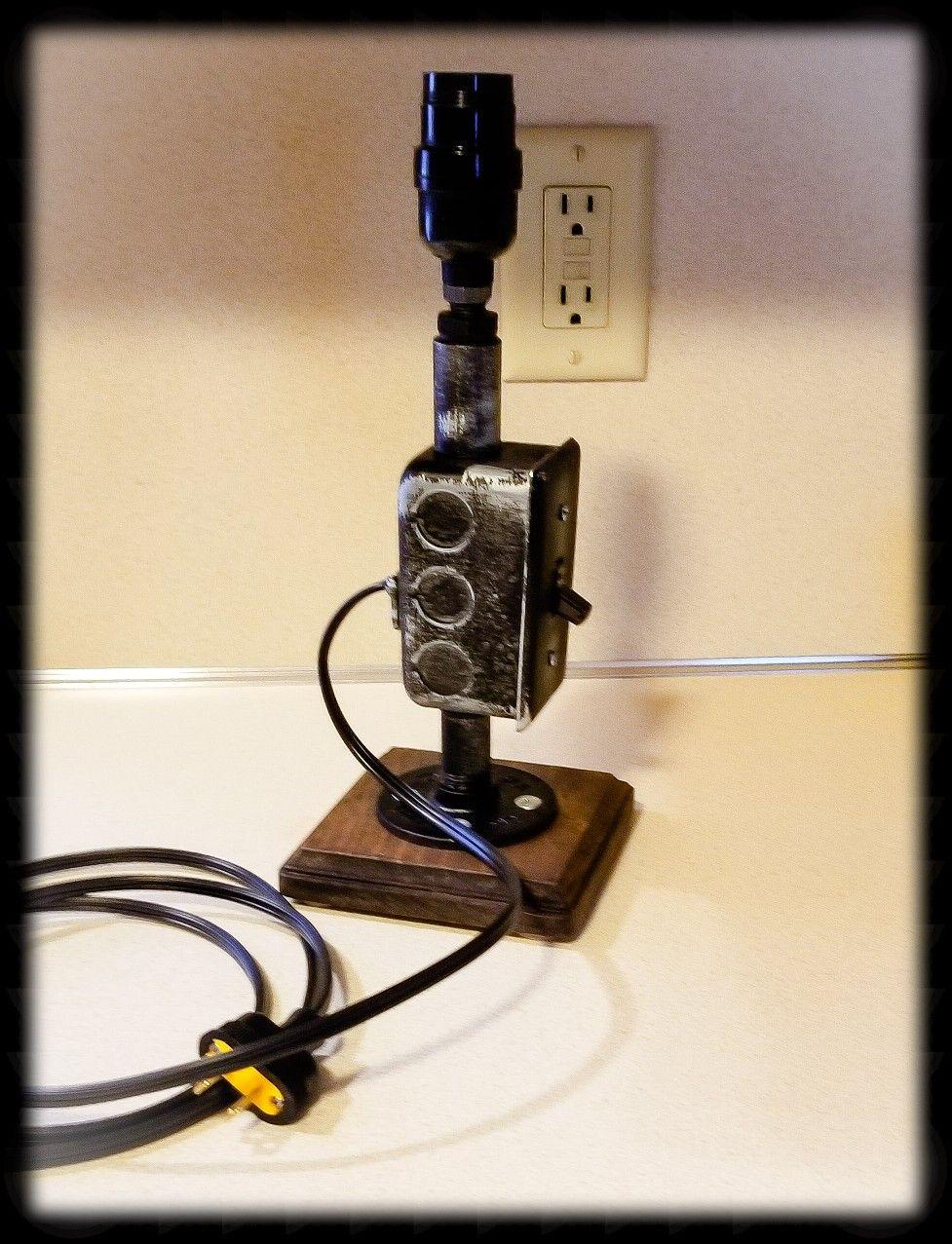 Industrial Desk Lamp, Steampunk Table Lamp, Nightstand