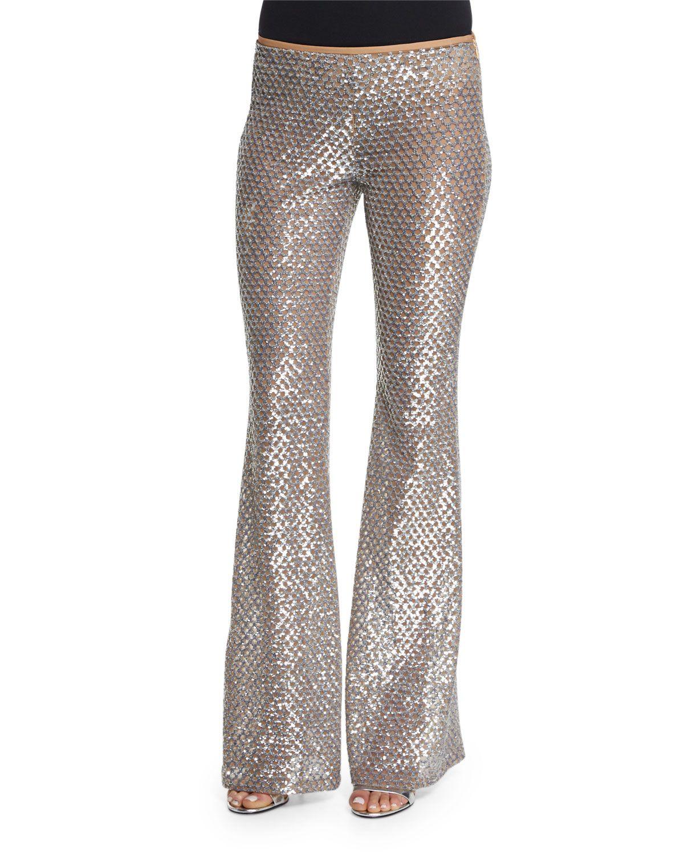 647a4ed40e7 Michael Kors Embellished Flare-Leg Pants