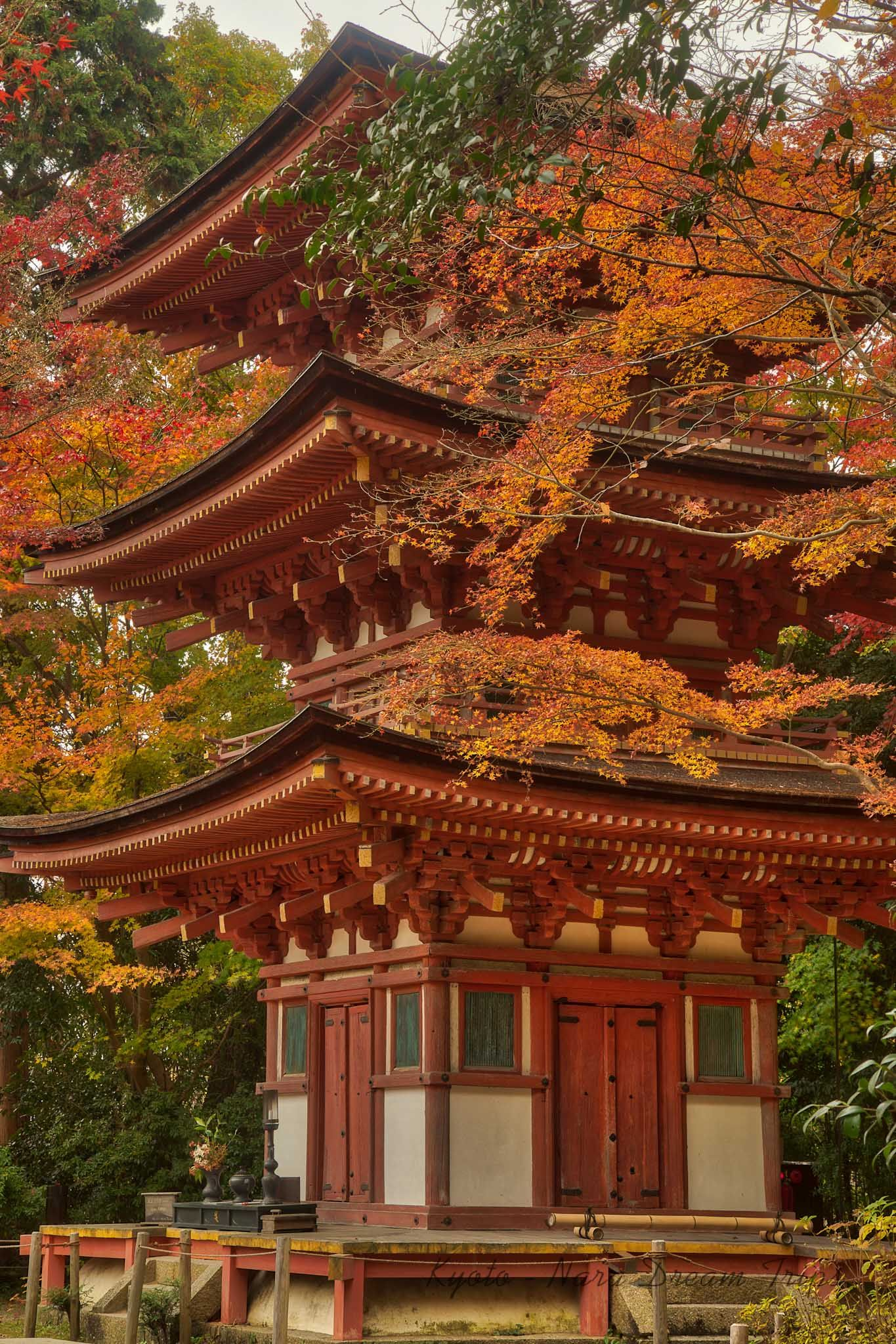 Autumn Scenery at Jōruri-ji Temple, Kizugawa-shi, Kyōto-fu-Japan. #autumnscenery