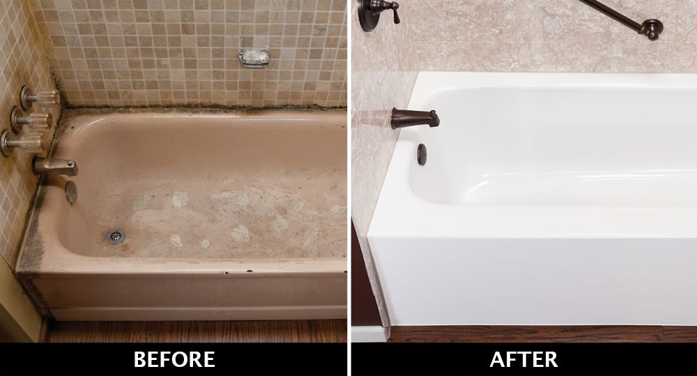 Get Rid Of That Moldy Tile Replace With An Acrylic Bathtub