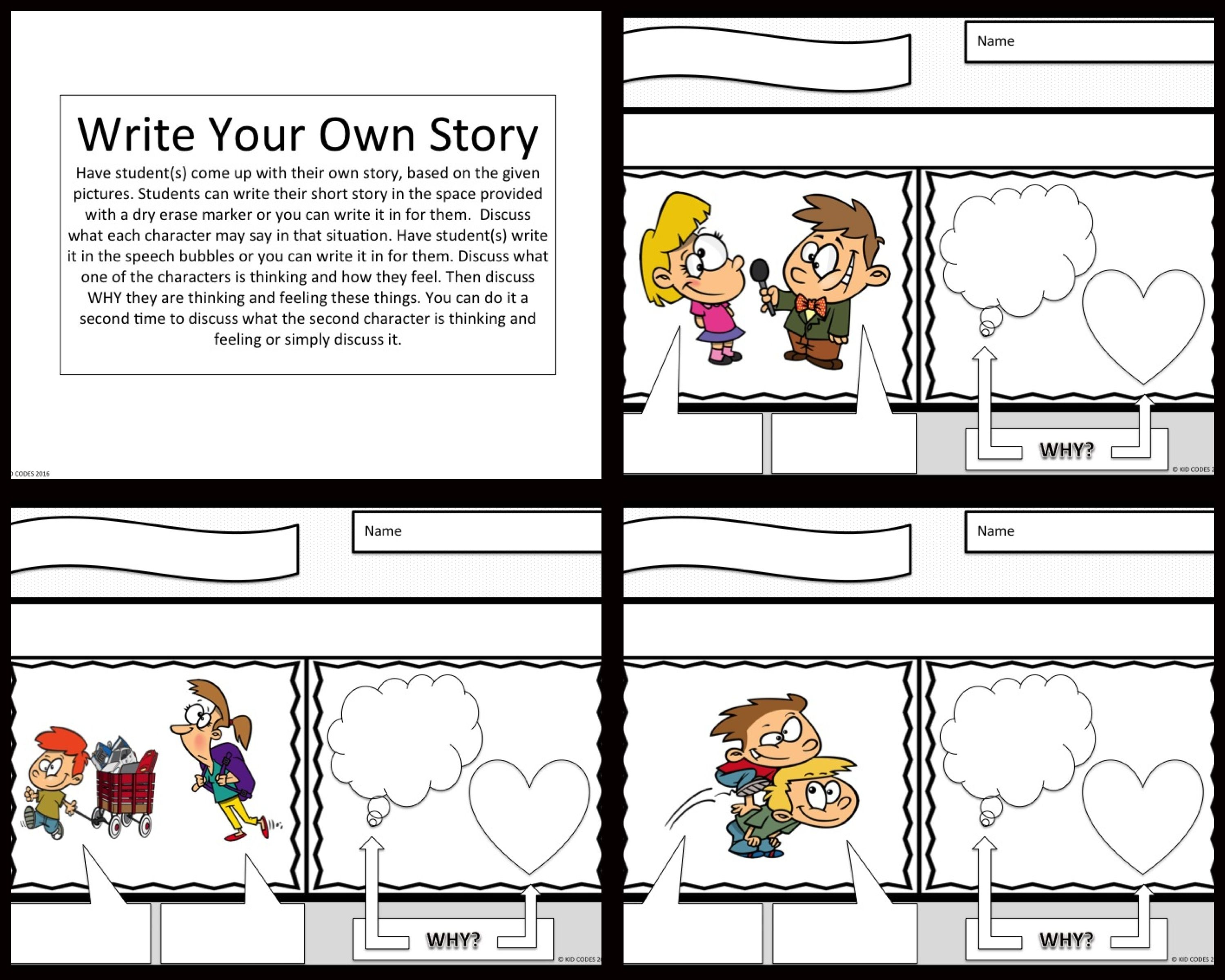 Perspective Taking Comic Strip Activity For K 2nd