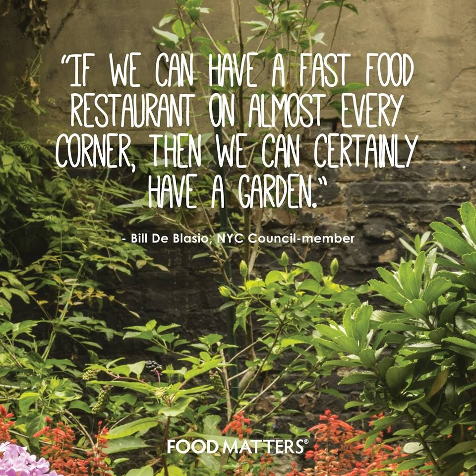 To make this happen would be amazing!   www.foodmatters.tv