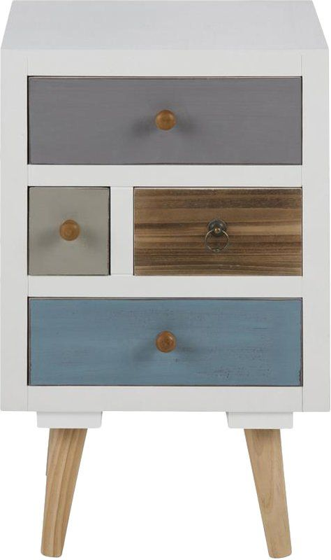 Retro Style Container Bedside Table: Casteel 4 Drawer Bedside Table