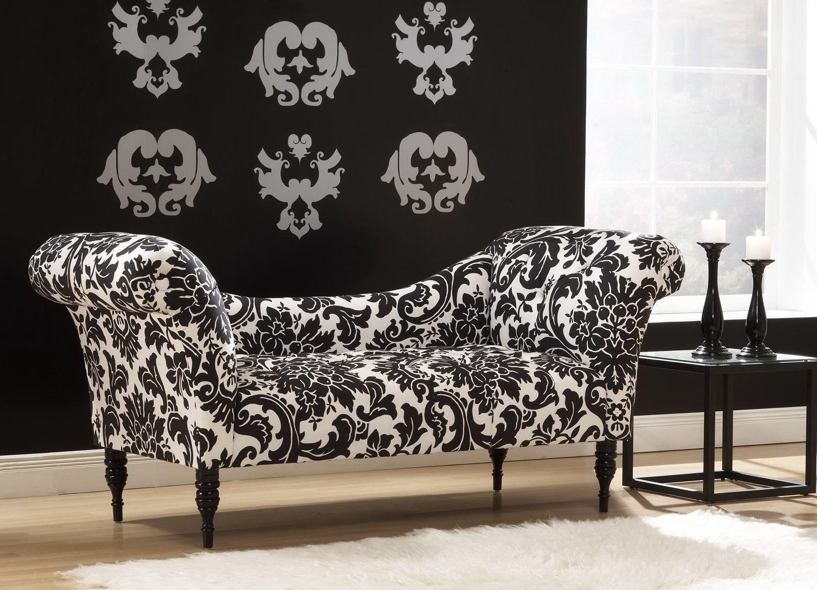 Black And White Damask Sofa Cover   Coffee Tables And End Tables Get Plenty  Of Focus In Houses, But You Will Find Other Tabl