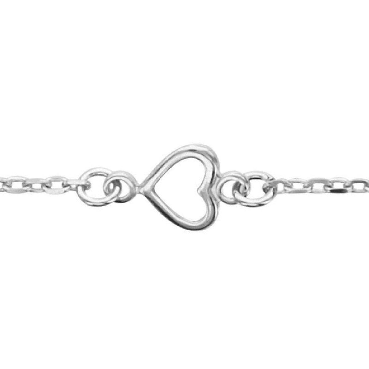 bracelet femme maille coeur