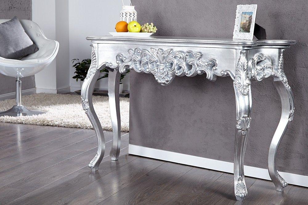 console-baroque-bianca-argent-patinejpg (1000×667) déco Pinterest