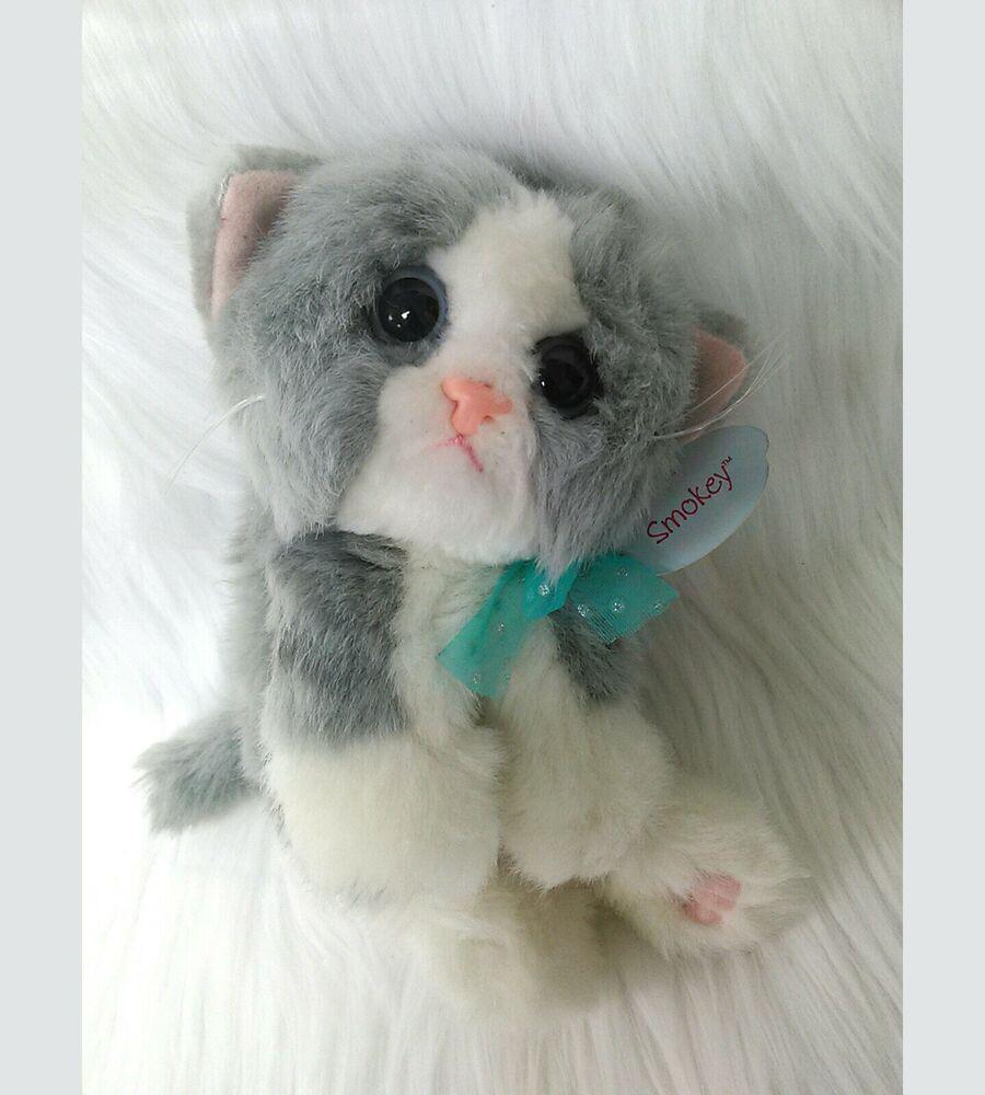9 Kitty Kitty Kittens Smokey Gray White Dsi Vintage Plush Cat Toy Nwt B350 Dsi Vintage Plush Kitten Plush Toy Cat Toys