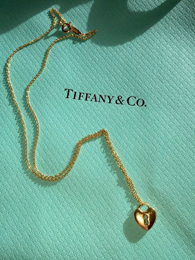 38d92a6ac Authentic Tiffany & Co. Heart Lock Pendant Necklace 18K Yellow Gold in  Jewelry & Watches, Fine Jewelry, Fine Necklaces & Pendants | eBay