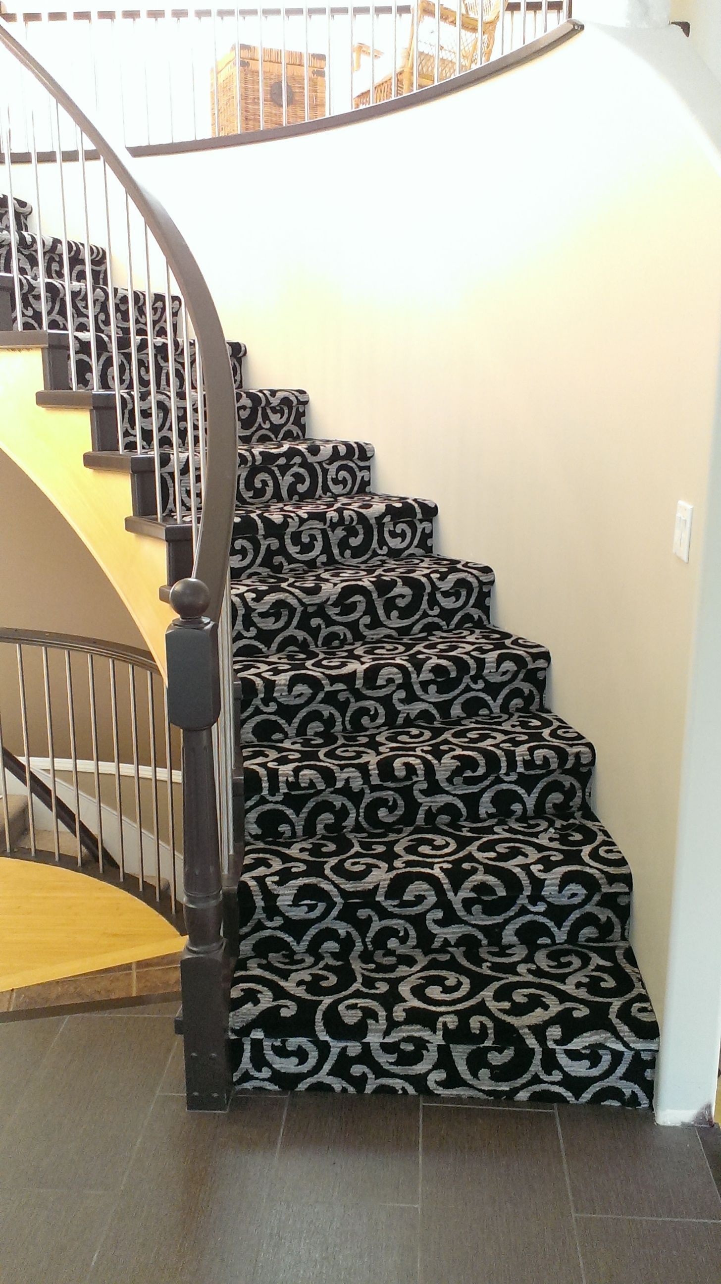 Best Another Beautiful Patterned Kane Carpet Stair Installation 400 x 300