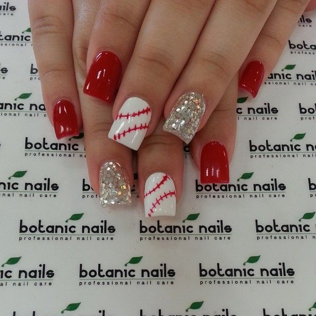 Image via Red nail art designs examples - Image Via Red Nail Art Designs Examples Nails... Pinterest Red