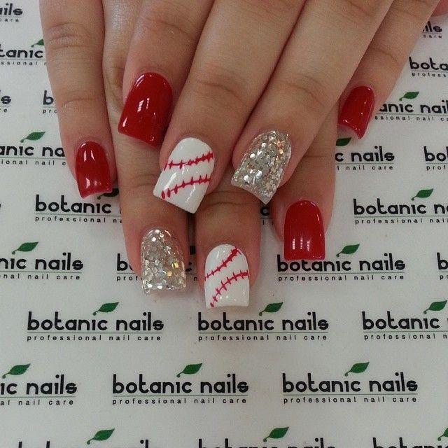 Image via red nail art designs examples nail art pinterest image via red nail art designs examples baseball prinsesfo Gallery