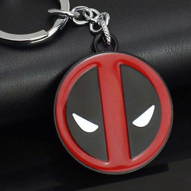 Deadpool Hero Stainless Steel Key Ring Keychain Holder