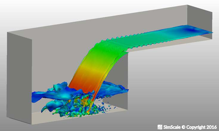 Flow simulation of a waterfall | CFD (Computational Fluid Dynamics