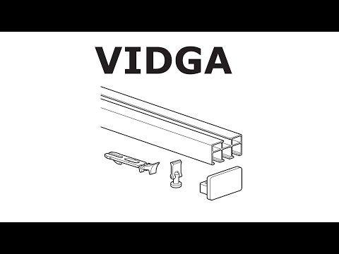 to install ikea vidga rail triple track
