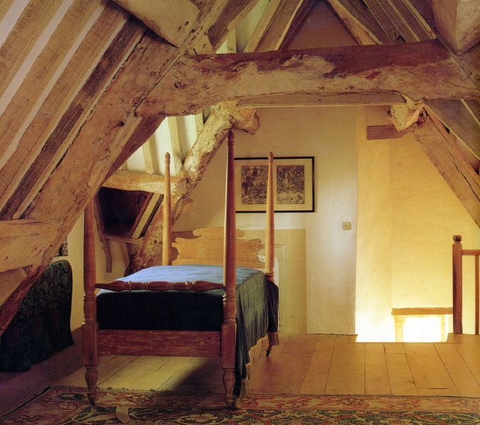 The Attic Room 1892 - 1893. Those rafters and floors are awesome.