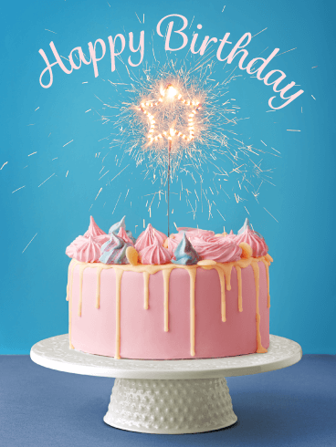 Sparkling Celebration Cake – Happy Birthday Card | Birthday & Greeting Cards by Davia