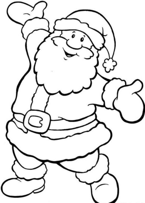 Happy Santa Free Coloring Pages For Christmas - Christmas Coloring ...