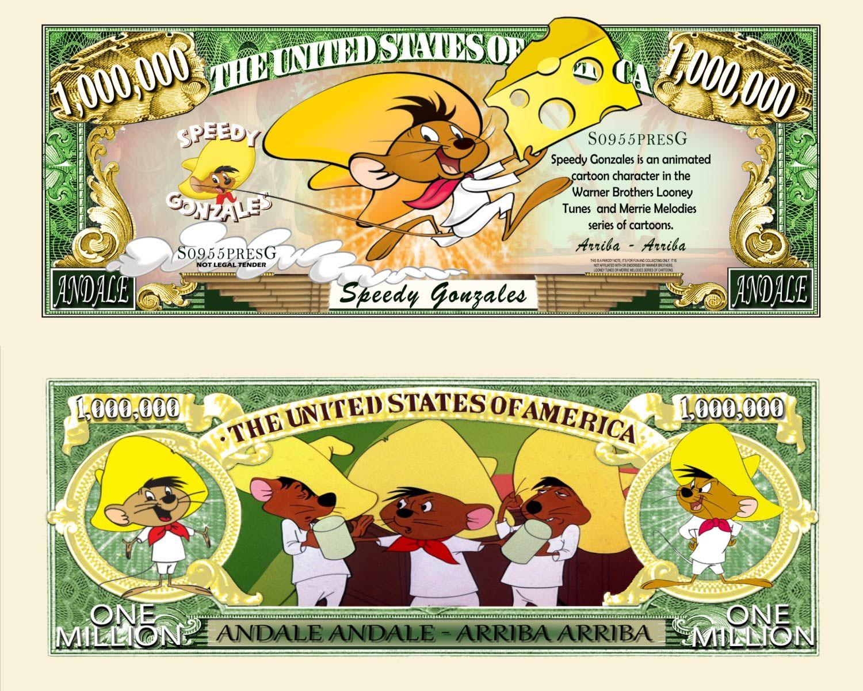 Hanna-Barbera Movie//TV Character Million Dollar Novelty Money Yogi Bear