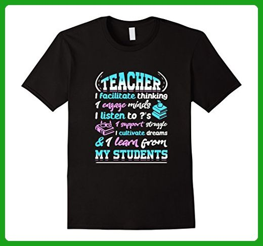 Mens Proud To Be A Teacher - Teacher Tee Shirt Large Black - Careers professions shirts (*Amazon Partner-Link)