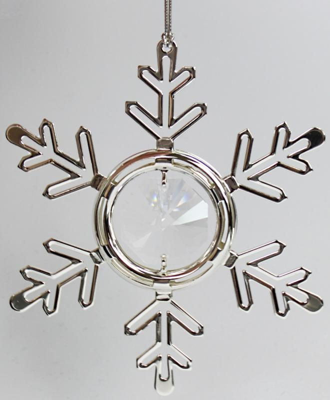 Schneeflocke Christbaumschmuck Silberfarben Made With Spectra