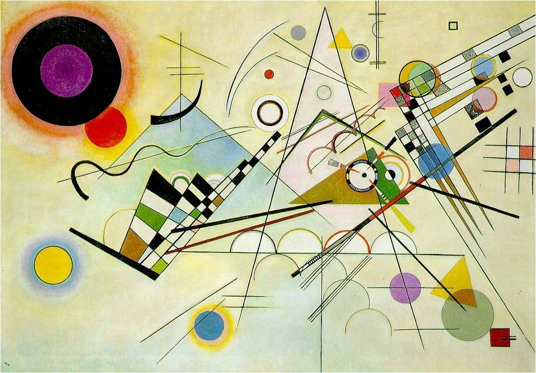 Wassily Kandinsky - Composição VIII - 1923 -  óleo sobre tela - Solomon Guggenheim Museum, NYC.