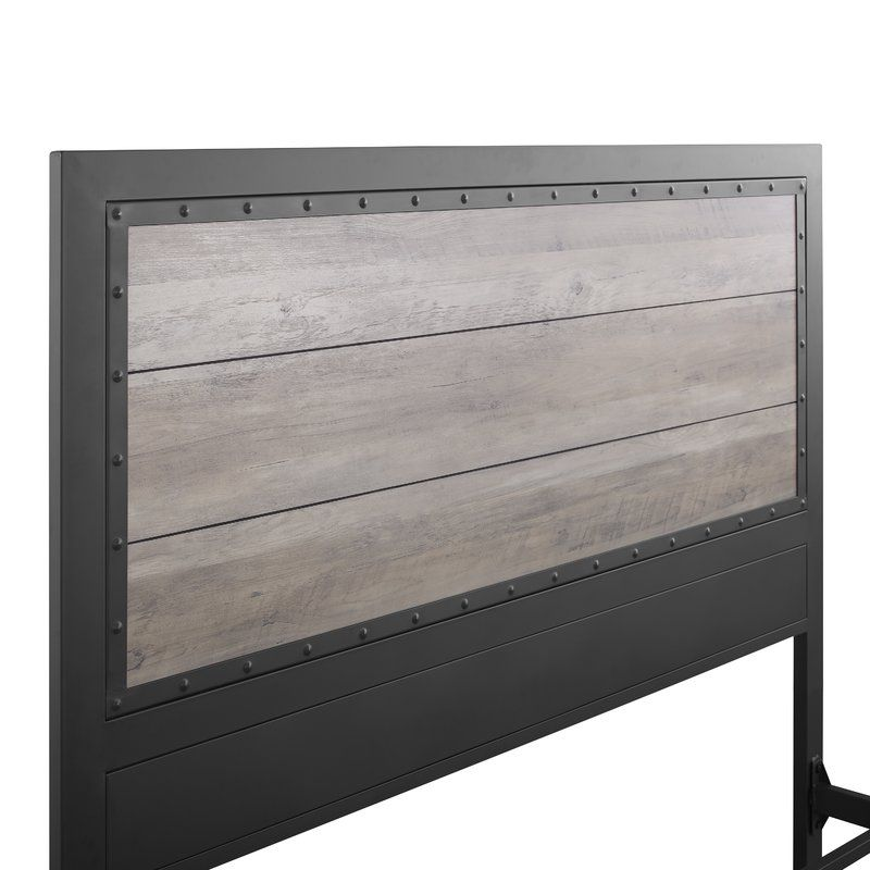 Best Berta Queen Standard Bed Metal Beds Rustic Bedding 640 x 480
