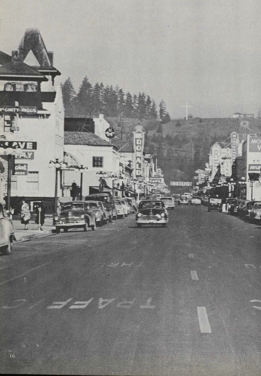 Downtown Eugene With View Of Skinner S Butte 1952 The Oregon O Is Visible From The 1952 Oregana University Of Oregon Life Springfield Oregon Oregon Pictures