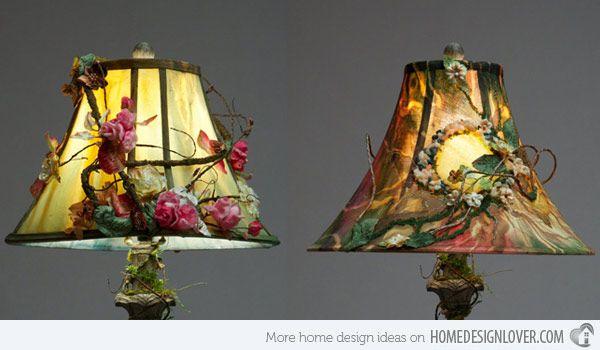 15 Girly Diy Lamp Shade Designs Home Design Lover Painting Lamp Shades Lampshade Designs Shabby Chic Lamp Shades