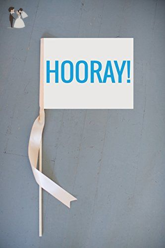 HOORAY Sign Small Handcrafted Banner Ring Bearer Sign Flower Girl Flag 1137 - Wedding table decor (*Amazon Partner-Link)