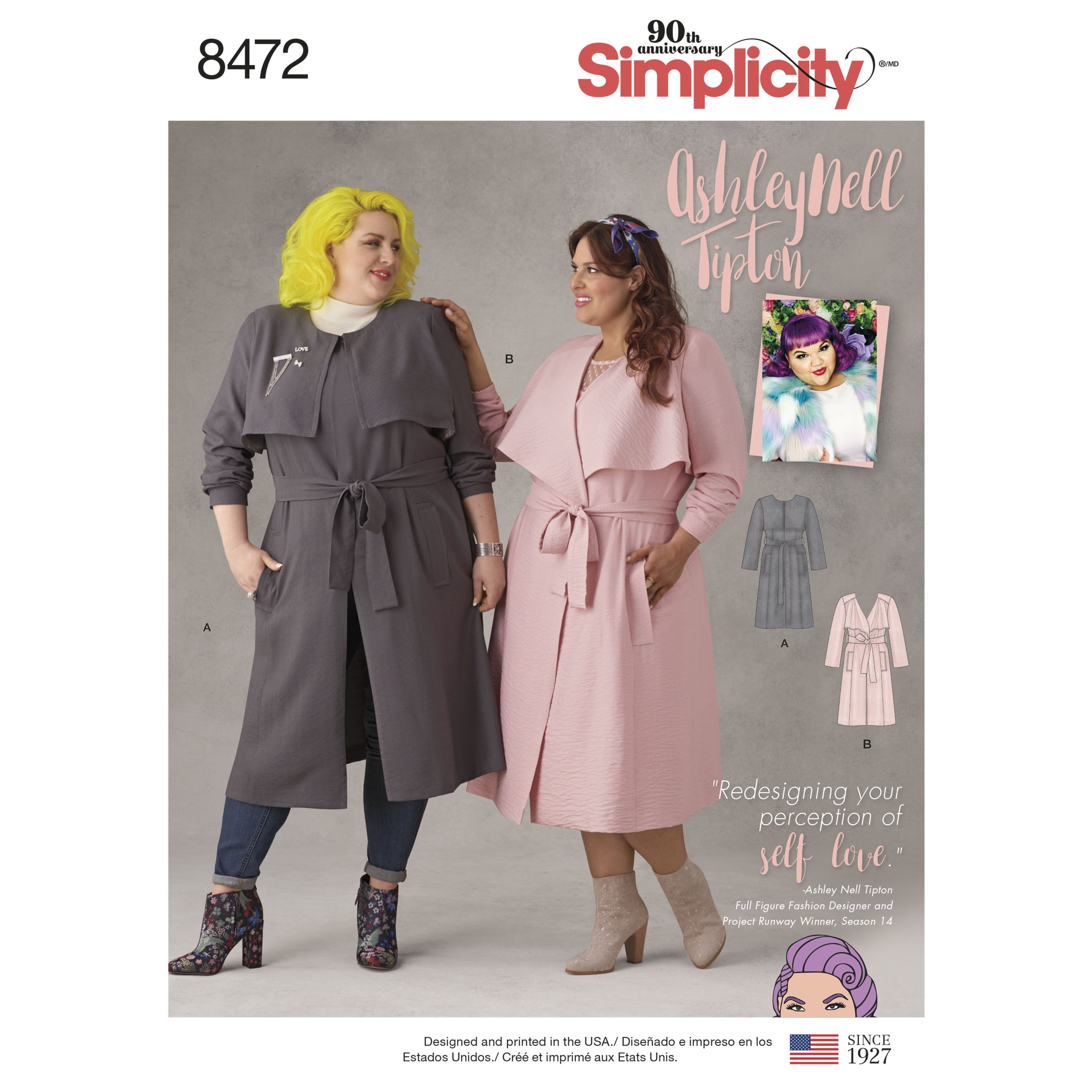 Ashley Nell Tipton has created these lined coats in sizes