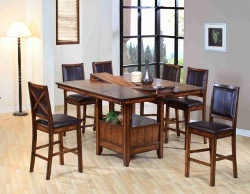 Barron Butterfly Dining Room Furniture Set | True Contemporary - 7 PC Barron Butterfly Leaf Dining Room Furniture Set by True Contemporary