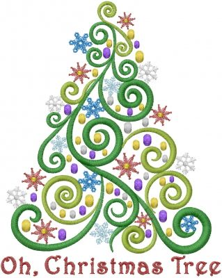 Oh Christmas Tree Embroidery Designs Machine Embroidery Designs At Embroiderydesigns Com Sewing Embroidery Designs Sewing Machine Embroidery Machine Embroidery Projects