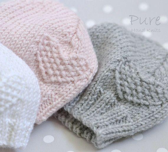 Preemie, Newborn, Baby, Toddler baby hat EASY knitting pattern ...