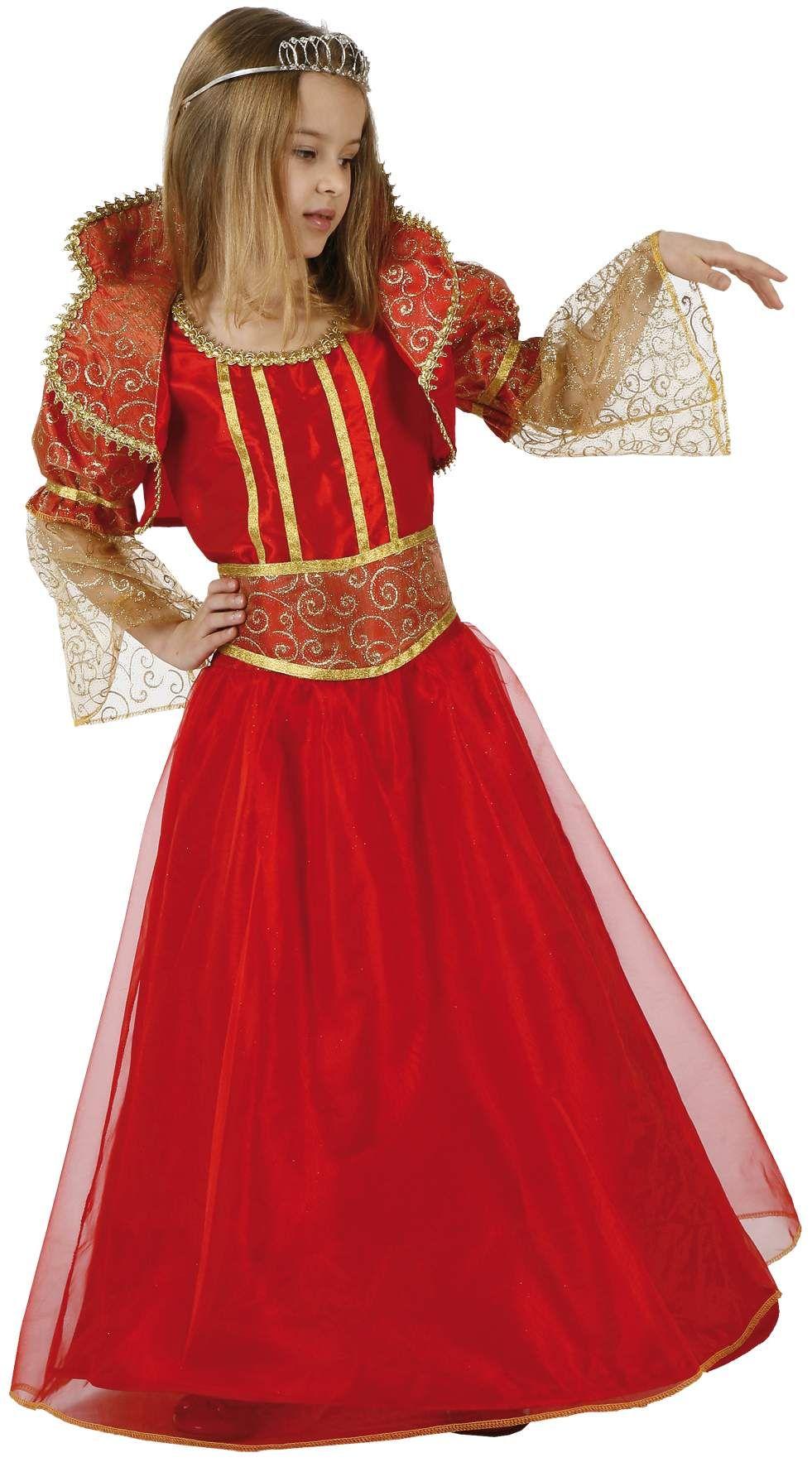ff250f4e9dd Déguisement reine médiévale fille   Ce déguisement de reine médiévale fille  se compose d une