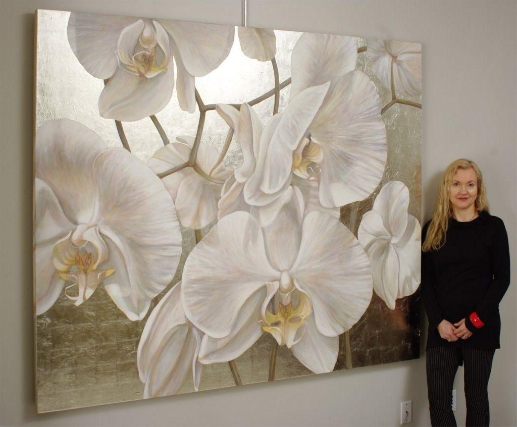 Orchid Portrait Peinture Abstraite De Paysage Peinture Fleurs